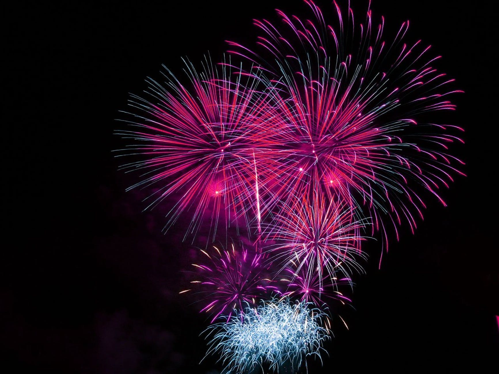 display pink fireworks celebrate